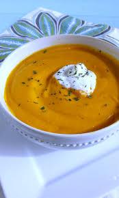 baked sweet potato carrot soup