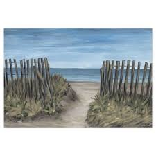 Marmont Hillmarmont Hill Beach Picket Fence 36 Inch X 24 Inch Canvas Wall Art Dailymail