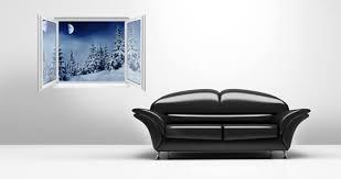 Snow Den Forest Faux Window Murals Dezign With A Z