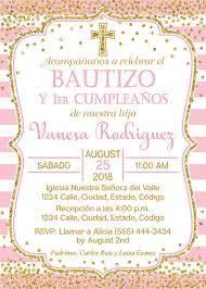 Espanol Rosa Y Oro Bautismo Y Primera Invitacion De Etsy Invitacion Bautizo Nina Tarjetas De Invitacion Bautizo Invitaciones De Bautizo Gratis