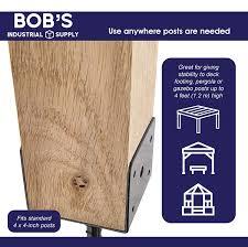 Generic Bisupply Concrete Post Anchor 4x4 Post Base Spike 4 Pack U Shape Fence Post Holder Pergola Brackets Deck Post Base Set