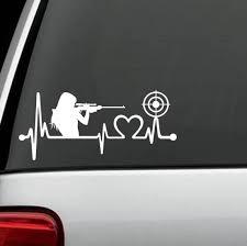 Gun Girl Heartbeat Target Shooting Car Decal Sticker Love Guns Rifle Pistol Vinyl Decal Buy Car Sticker Decal Vinyl Sticker Paper Product On Alibaba Com