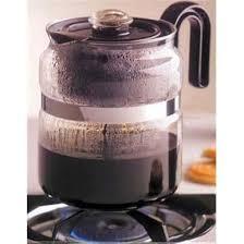 cup glass stovetop percolator