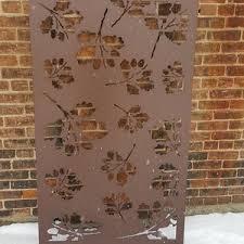 Oak Leaf1 Oversize Metal Privacy Screen Decorative Etsy