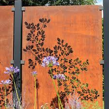 Drift Decorative Screening Fence Panel In Corten Steel 5ft 8 Inches 373 99