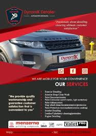 car detailing advertising the power