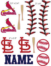 St Louis Cardinals Cranial Band Decoration From High Quality Vinyl