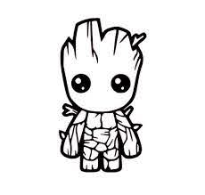 Amazon Com Baby Groot Vinyl Decal Guardians Of The Galaxy Sticker Groot Decal Handmade