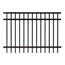 Gilpin Legacy Elite 5 Ft H X 6 Ft W Black Aluminum Flat Top Decorative Fence Panel In The Metal Fence Panels Department At Lowes Com