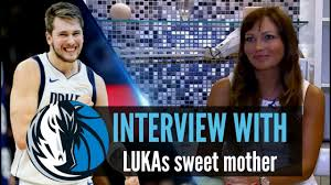 Luka Doncic - His hot mom Mirjam taking an interview on Dallas ...