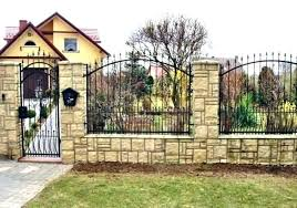 Wrought Iron Fencing Ideas Fence Ideas For Front Yard Autoiq Co