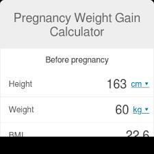 pregnancy weight gain calculator omni