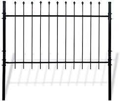 Amazon Com Aleko Dwgf5x5 Diy Steel Fence Panel Kit Athens Style 5 X 5 Feet Garden Outdoor