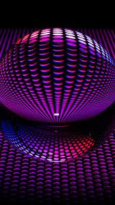 3d purple ball shape 1080x1920 iphone 8