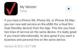esim activation on iphone xs