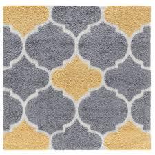 artz gray yellow area rug