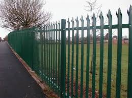 Euro Style Free Standing Metal Palisade Fence Cast Iron Fence Panels