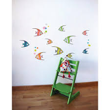 Adzif 44 3 In X 22 8 In Multi Color Tropical Fish Kids Wall Decal L6055 Ajv5 The Home Depot