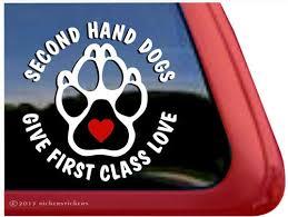 Rescue Dog Paw Print Window Decals Stickers Nickerstickers