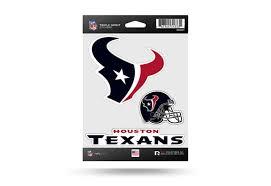 Nfl Football Houston Texans Window Decal Sticker Set Officially Licensed Custom Sticker Shop