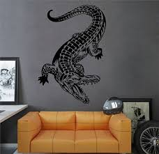 Kik2895 Wall Decal Sticker Crocodile Alligator Living Room Etsy