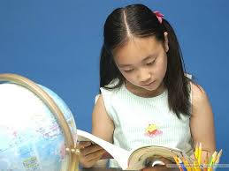 Stock Photos of S.Korean Children - Girl Reading Book 4 - Wallcoo.net