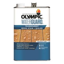 Olympic Waterguard 1 Gal Woodland Cedar Transparent Wood Stain And Sealer 55167 01 The Home Depot