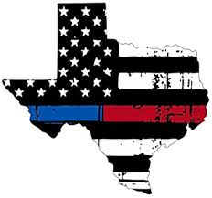 Amazon Com Texas Tattered Thin Blue Red Line Flag Honoring Our Men Women Of Law Enforcement And Fire Fighters Usa America Car Symbol Sticker Decal Die Cut Vinyl Window Made And Shipped