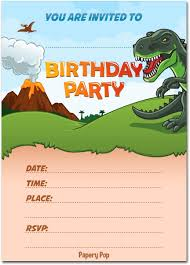 30 Invitaciones De Cumpleanos De Dinosaurio Con Sobres 3