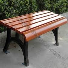 antique garden bench with cast iron legs