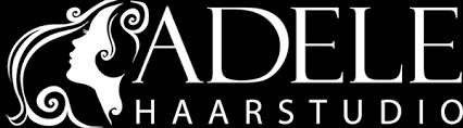 Logo Adele white – Haarstudio Adele