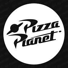 Pizza Planet Circle Vinyl Decal In 2020 Vinyl Decals Pizza Planet Planet Decals