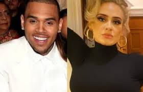 Chris Brown visits Adele's home in West London late at night
