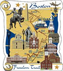 Image result for Graphics of Freedom Trail Boston