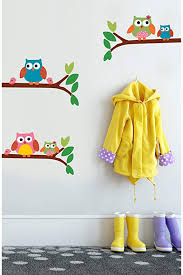 Amazon Com Wallies Vinyl Wall Decals Peel And Stick Owl Wall Stickers For Girls Bedroom Or Nursery 5 Pc Home Kitchen