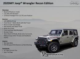 The 2020 Wrangler Rubicon Recon Is A Sticker Package With Bonuses