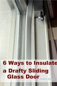 insulate a drafty sliding glass door