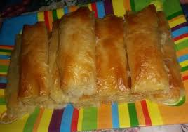 phyllo pastries with cheese and cream
