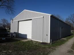 30x60 pole barn on 48x122 lot heated