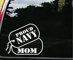 Navy Mom Dog Tags Military Window Decal Stickers Custom Sticker Shop