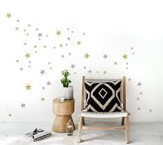 Silver Gold Stars Wall Decal Mix 2 Colored 64 Mixed Size Star Etsy Gold Star Wall Decals Star Wall Decals Kids Room Wall Stickers