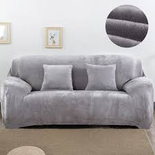 plush fabirc sofa cover 2 seater thick