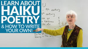 learn to write poetry the haiku you