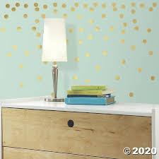 Gold Confetti Dots Peel Stick Wall Decals Oriental Trading