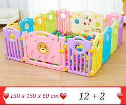 Baby Safety Fence Play Yard Toddler Indoor Game Fence Crawl Mat Babies Kids Cots Cribs On Carousell