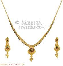 indian 22k gold necklace set stls9898