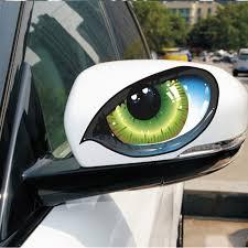 Vodool 2pcs Car Sticker Rearview Mirror 3d Green Eye Stickers Truck Window Graphics Sticker Decal Car Exterior Accessories Car Exterior Accessories Car Stickergraphic Sticker Aliexpress