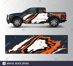 Truck And Cargo Van Wrap Vector Car Decal Wrap Design Graphic Abstract Stripe Designs For Vehicle Race Offroad Adventure And Livery Car Stock Vector Image Art Alamy