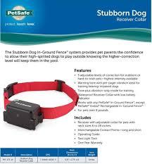 Petsafe Stubborn Dog Collar With 2 9 Volt Batteries Prf 275 19 729849105195 Ebay