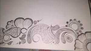 mehndi design in drawing